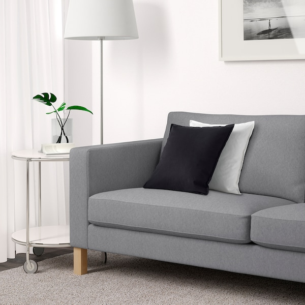 KARLSTAD Three-seat sofa, Knisa light grey