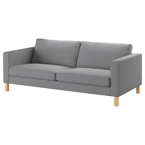 KARLSTAD three-seat sofa Knisa light grey 205 cm 93 cm 80 cm 56 cm 45 cm