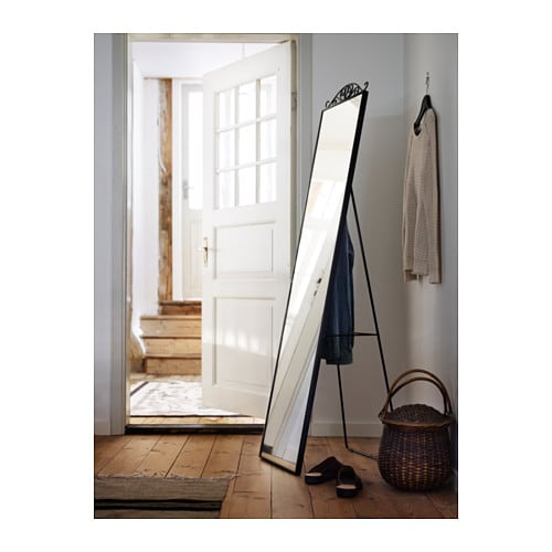 KARMSUND Standing mirror IKEA Tired in the mornings? You can save time by hanging tomorrow's outfit behind the mirror.
