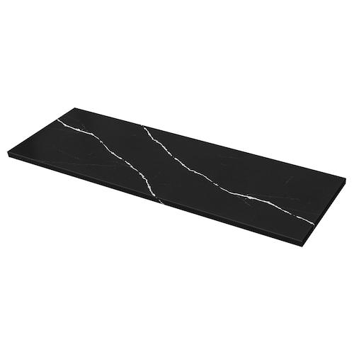 KASKER custom made worktop matt black/marble effect quartz 2.0 cm 4.0 cm 100 cm 20 cm 300 cm 4.0 cm 1 m²