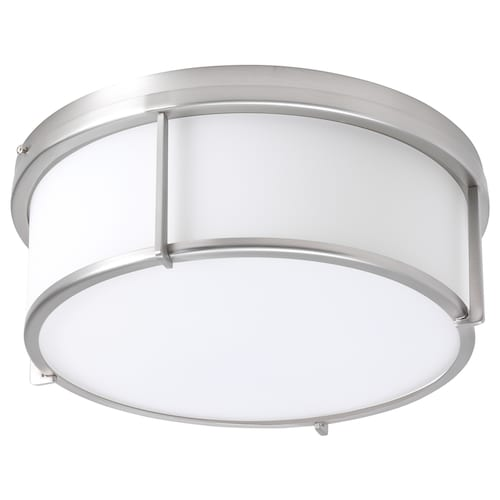 KATTARP ceiling lamp glass nickel-plated 25 W 13 cm 33 cm