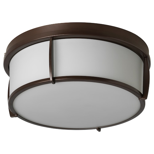 KATTARP ceiling lamp glass bronze-colour 25 W 13 cm 33 cm
