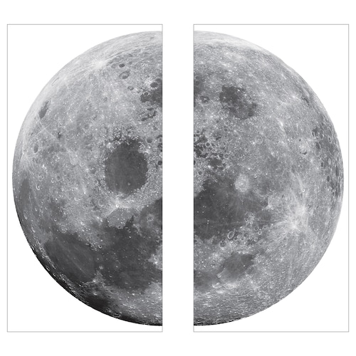 KINNARED decoration stickers moon 58 cm
