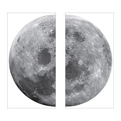 KINNARED decoration stickers, moon