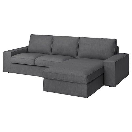 KIVIK 3-seat sofa, with chaise longue/Skiftebo dark grey