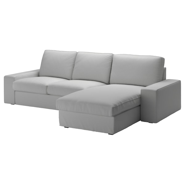 KIVIK 3-seat sofa with chaise longue/Orrsta light grey 280 cm 83 cm 95 cm 163 cm 60 cm 124 cm 45 cm