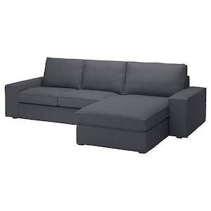 Cover: With chaise longue/idekulla dark grey.