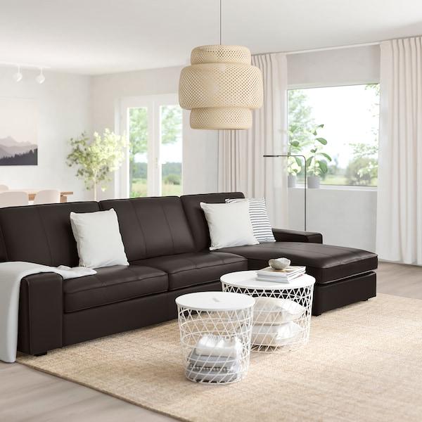 KIVIK 4-seat sofa, with chaise longue/Grann/Bomstad dark brown