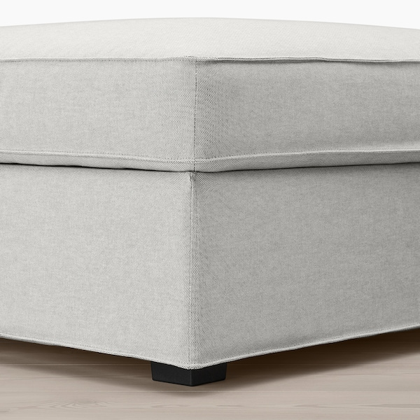 KIVIK Footstool with storage, Orrsta light grey