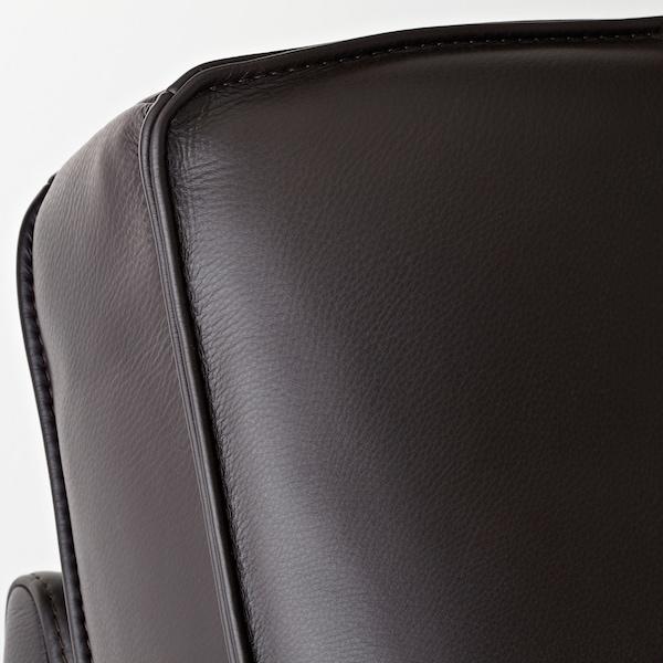 KIVIK Three-seat sofa, Grann/Bomstad dark brown