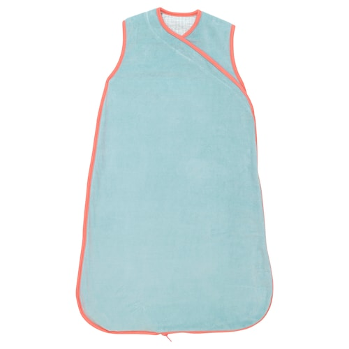 KLÄMMIG sleeping bag turquoise/red 74 cm
