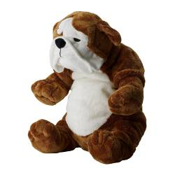 KLAPPAR soft toy, bulldog brown, white