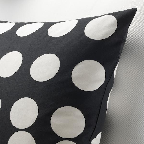KLARASTINA Cushion cover, black/white, 50x50 cm