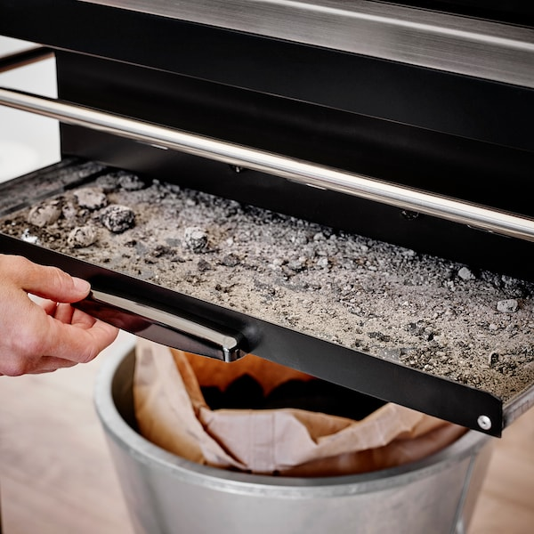 KLASEN Charcoal barbecue, stainless steel