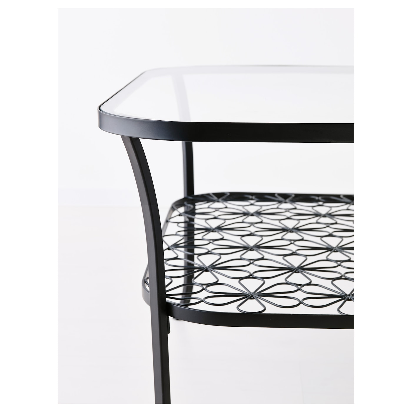 Picture of: Klingsbo Coffee Table Black Clear Glass Ikea