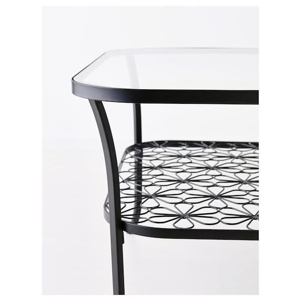 KLINGSBO coffee table black/clear glass 116 cm 78 cm 49 cm