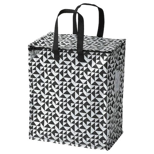 KNALLA bag black/white 40 cm 25 cm 47 cm 10 kg 47 l