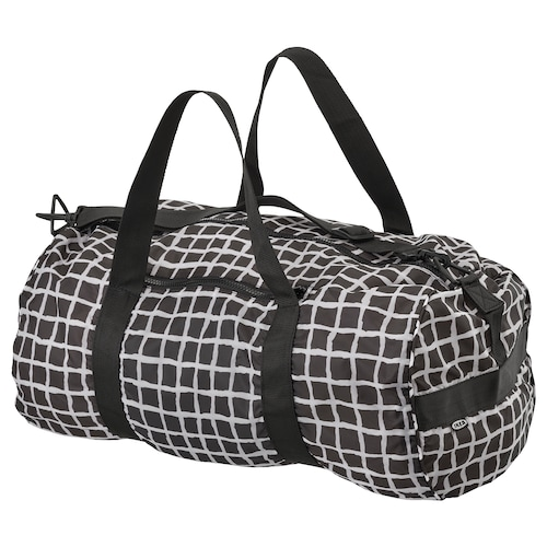 KNALLA sport bag black/white 54 cm 32 cm 40 l