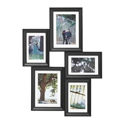 KNOPPÄNG collage frame for 5 photos, black