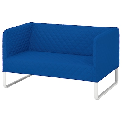 KNOPPARP 2-seat sofa, Knisa bright blue