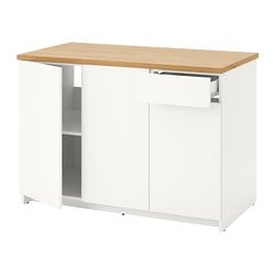KNOXHULT base cabinet with doors and drawer, white