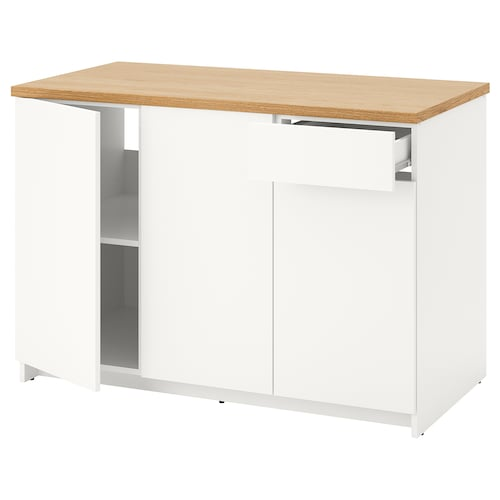 KNOXHULT base cabinet with doors and drawer white 122.0 cm 120 cm 61.0 cm 85.0 cm