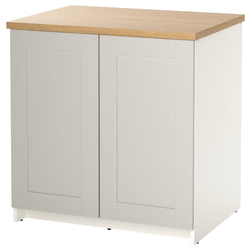 KNOXHULT base cabinet with doors grey 82 cm 80 cm 61 cm 85 cm