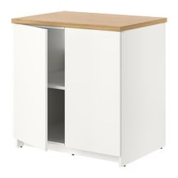 KNOXHULT base cabinet with doors, white