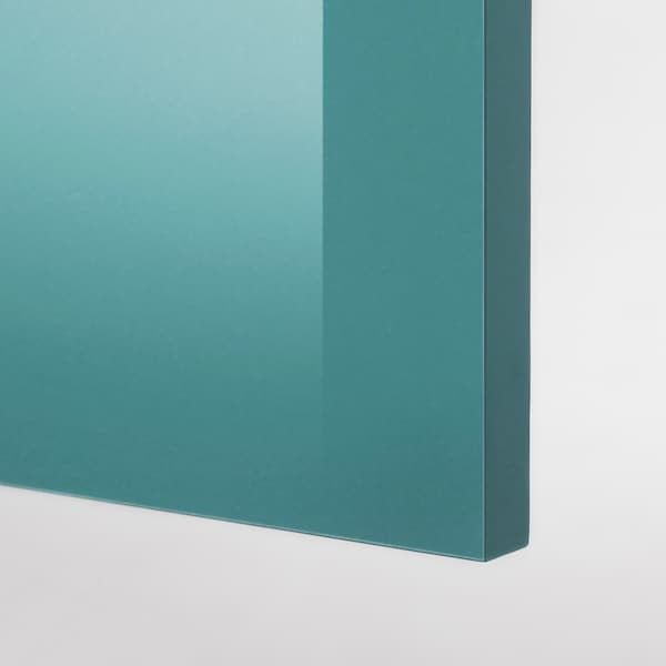 KNOXHULT base cabinet with doors high-gloss/blue-turquoise 182 cm 180 cm 61 cm 85 cm