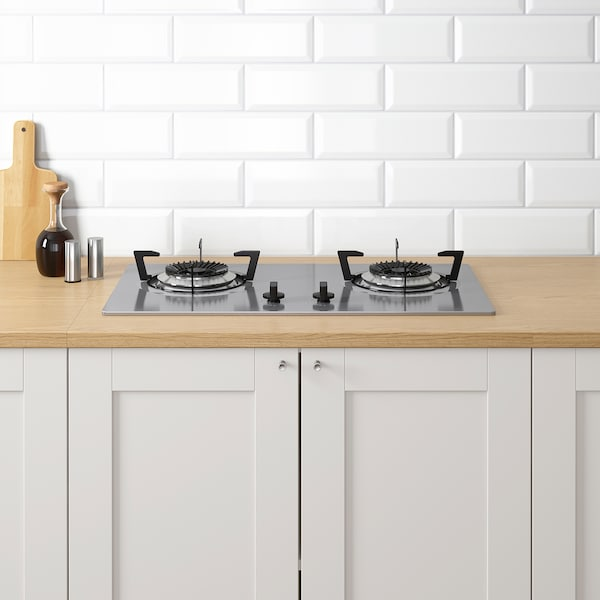 KNOXHULT Kitchen, grey, 204x61x220 cm