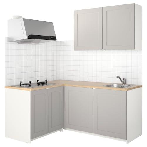 KNOXHULT kitchen grey 182.0 cm 143.0 cm 220.0 cm