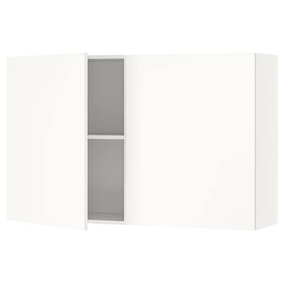 KNOXHULT Wall cabinet with doors, white, 120x75 cm