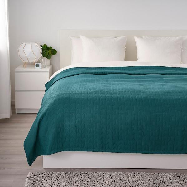 KÖLAX Bedspread, dark green, 230x250 cm