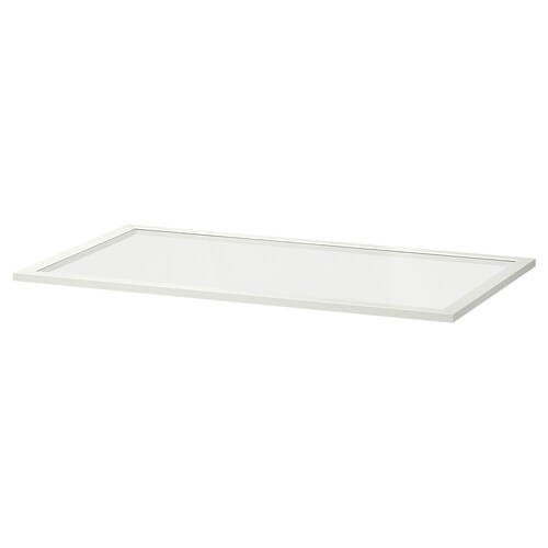 KOMPLEMENT glass shelf white 96.1 cm 100 cm 57.3 cm 58 cm 1.8 cm 8 kg