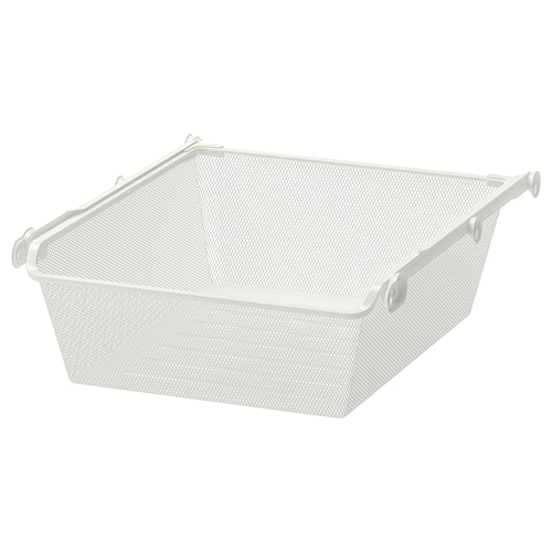 KOMPLEMENT mesh basket with pull-out rail white 46.1 cm 50 cm 53.3 cm 16 cm 58 cm 15 kg