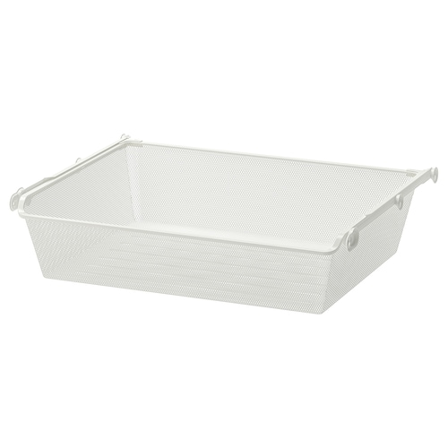 KOMPLEMENT mesh basket with pull-out rail white 71.1 cm 75 cm 53.3 cm 16 cm 58 cm 15 kg