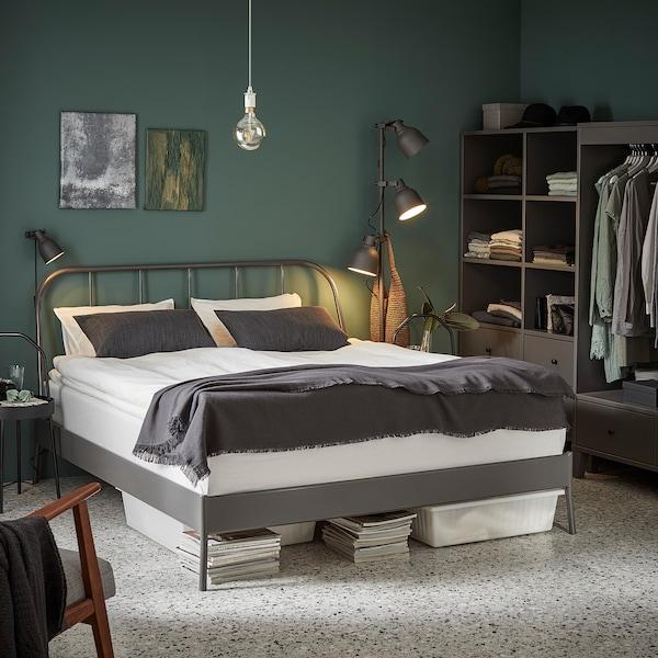 KOPARDAL Bed frame, grey, 150x200 cm