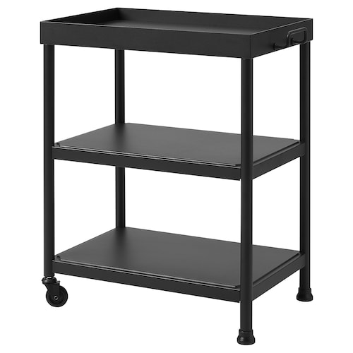 KORNSJÖ side table black 50 cm 35 cm 63 cm