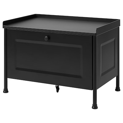 KORNSJÖ Storage bench, black