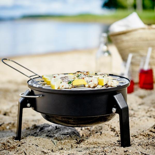 KORPÖN portable charcoal barbecue black 19 cm 35 cm 2 kg