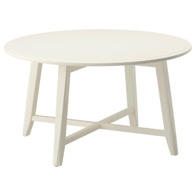 KRAGSTA Coffee table, white, 90 cm