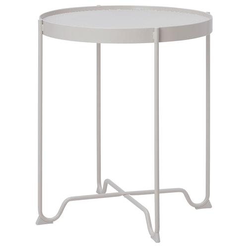 KROKHOLMEN side table, outdoor beige 60 cm 50 cm