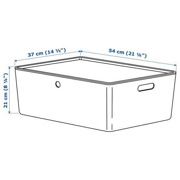 KUGGIS storage box with lid blue/plastic 37 cm 54 cm 21 cm