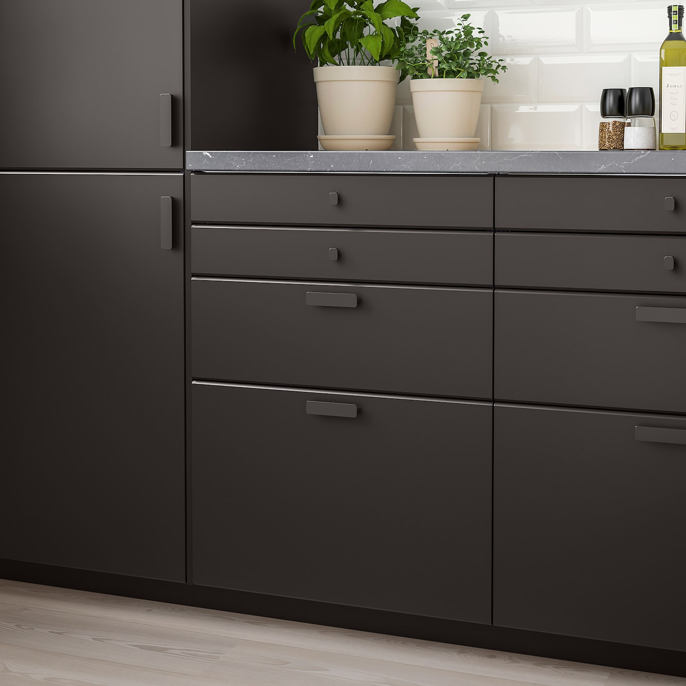 KUNGSBACKA Drawer front, anthracite, 40x10 cm