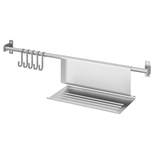 IKEA KUNGSFORS Rail with 5 hooks and tablet stand