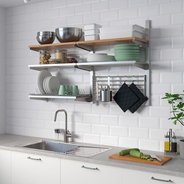 IKEA KUNGSFORS Susp rail/shlf/dish dra/wll gr