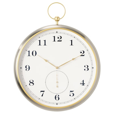 KUTTERSMYCKE Wall clock, silver-colour, 46 cm