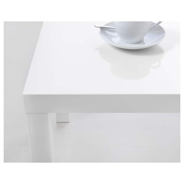 LACK Side table, high-gloss white, 55x55 cm
