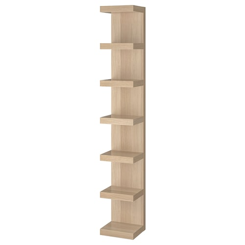 LACK wall shelf unit white stained oak effect 30 cm 28 cm 190 cm 25 kg 3 kg