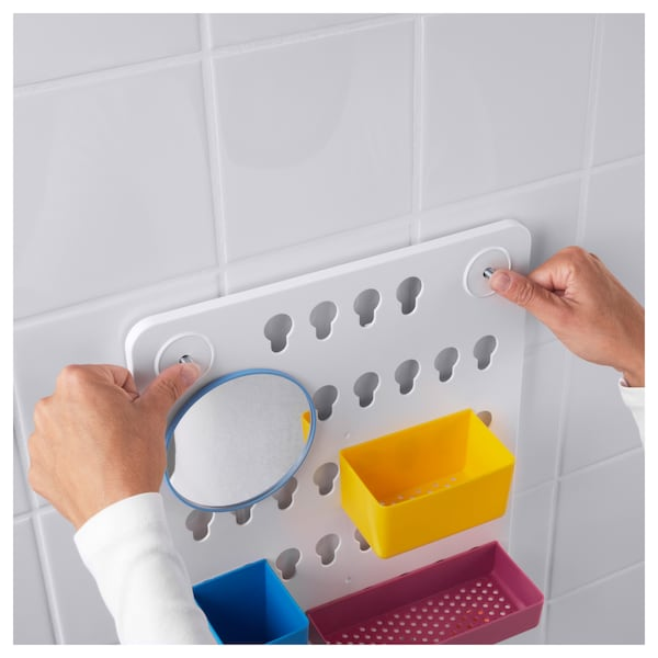 LÅDDAN 6-piece storage board set with suction cups/mixed colours 3 kg